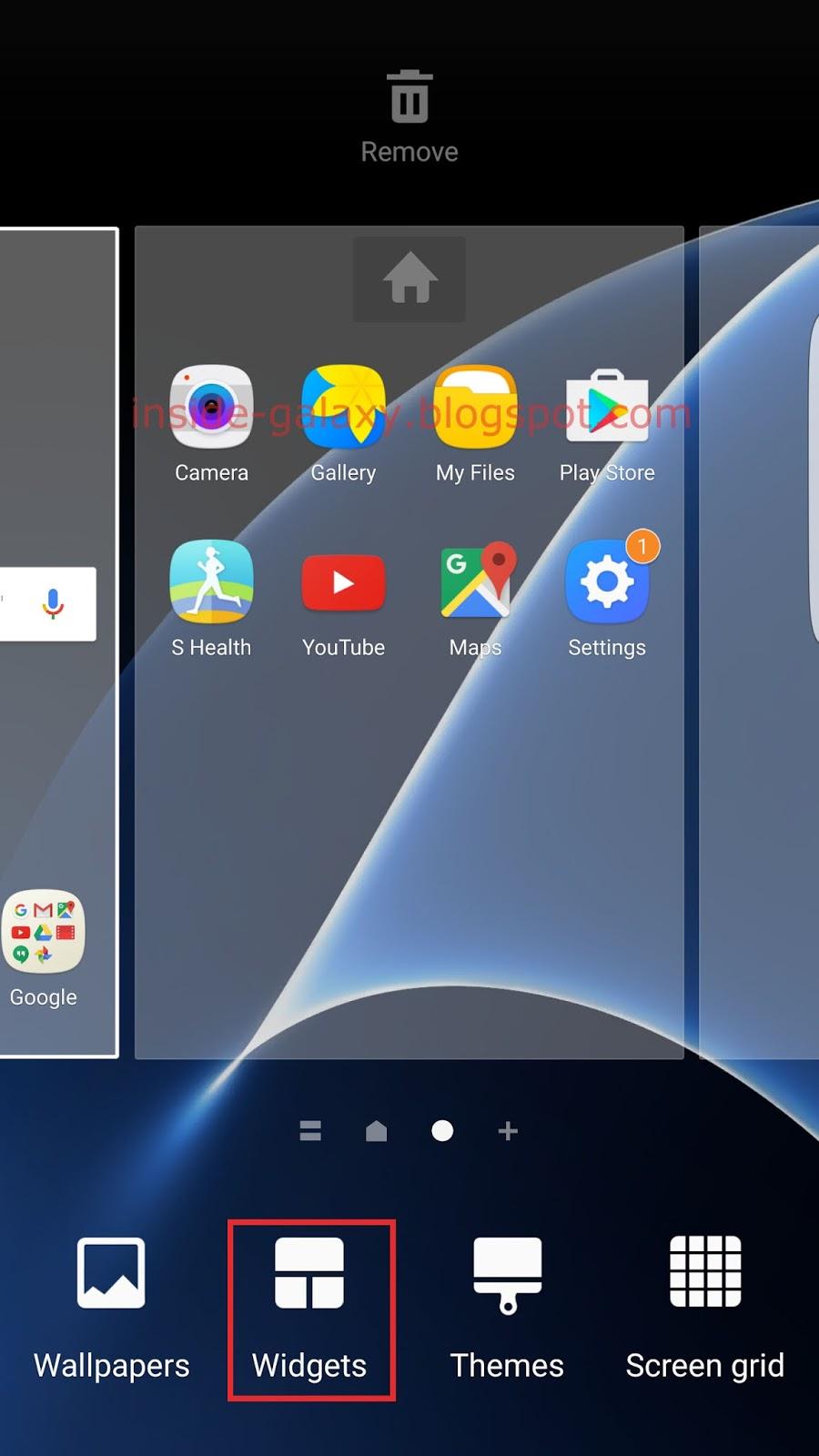 Download widgets Samsung b