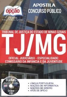 Apostila concurso TJMG 2017 para Oficial Judiciário - Especialidade: Comissão da Infância e da Juventude.