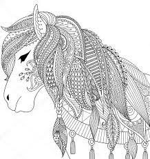 Ausmalbilder Pferde Für Erwachsene X Claudia Schiffer
