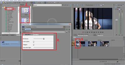 Langkah - Langkah Menerapkan Efek Transisi Slide dan Efek Animasi Vegas Pro