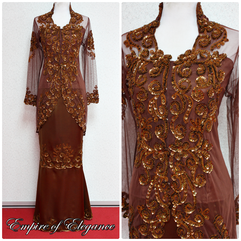 Kebaya Fiona in Dark Brown colour is currently available in ready-to-wear 3eb44e2ddc