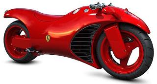 Moto roja Ferrari prototipo