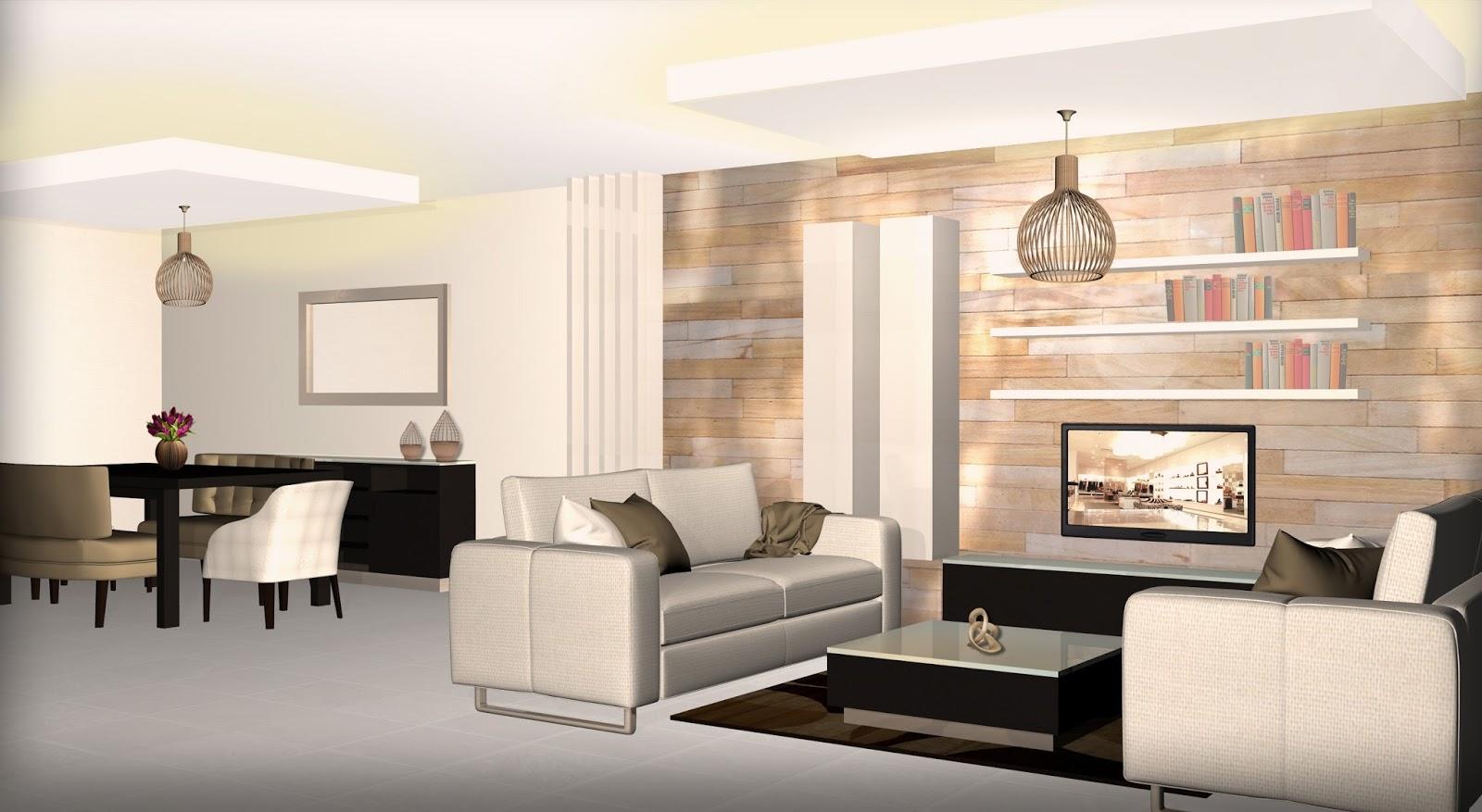 Proyectos de dise o decoraci n de interiores dise o y for Cortinas departamentos pequenos