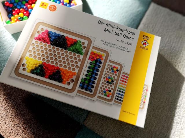 Spielzeug SINA Mini-Kugelspiel Holzkugeln Kreativ Muster NEU Legespiel aus Holz Erzgebirge