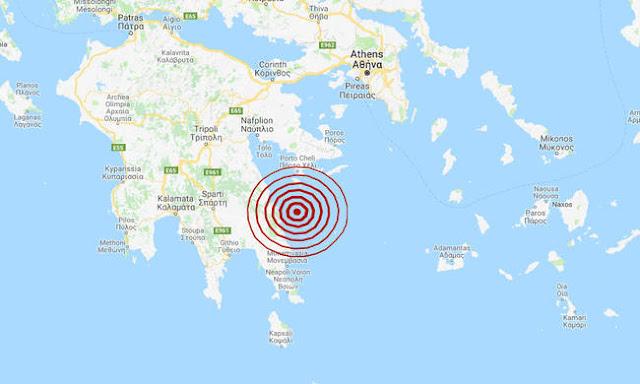 Σεισμική δόνηση ανατολικά της Πελοποννήσου - Έγινε αισθητή και στην Αργολίδα