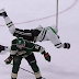 Nino Niederreiter sends Patrick Sharp flying through the air (Video)