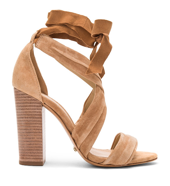 Suede lace up sandals