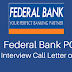 Federal Bank PO 2017 Interview/GD Admit Card Downlaod