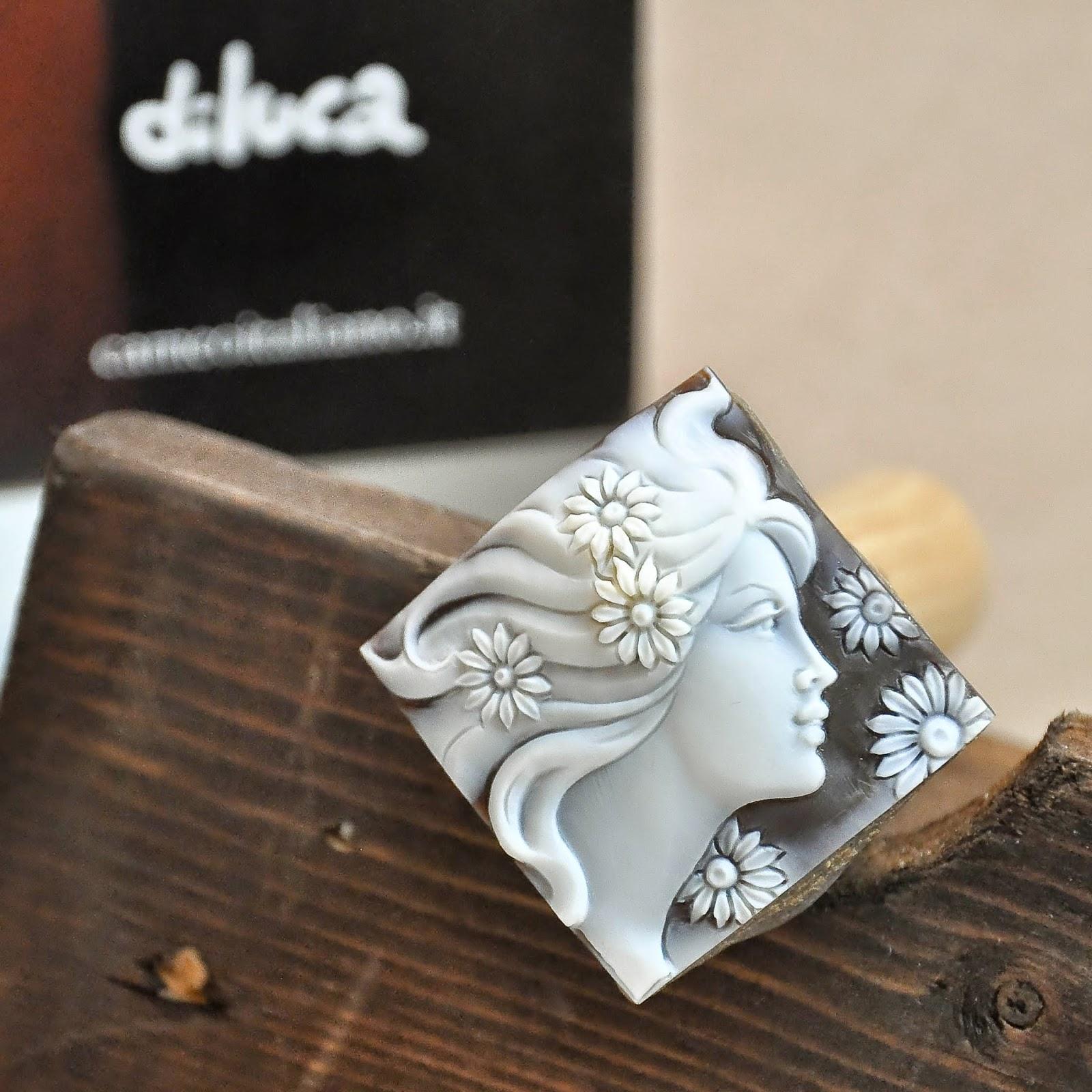 An Italian hand-carved cameo