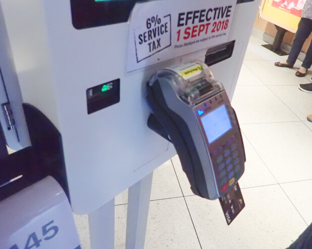 cashless, self ordering kiosk mcd