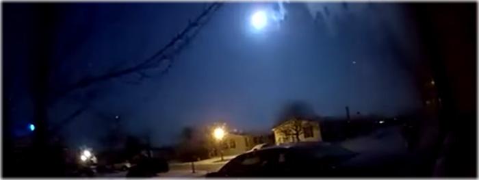 meteoro bola de fogo - michigan EUA