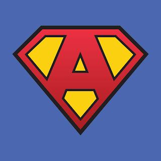 Superman Letter. Letras de Superman.