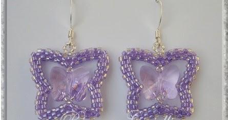Beaded Swarovski Butterfly Earrings Tutorial The Beading