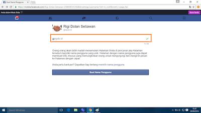 menentukan nama atau username halaman facebook
