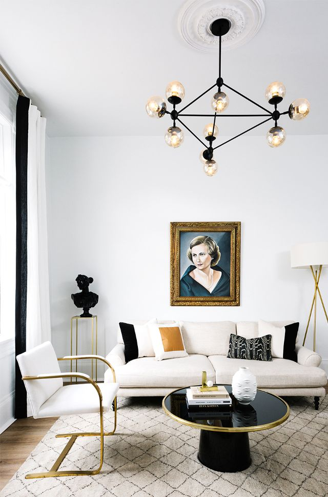 An All Black and White Townhouse - South Shore Decorating Blog