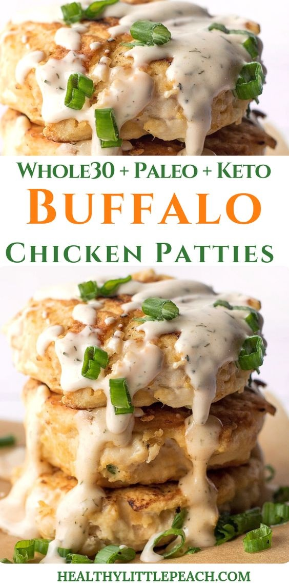 Buffalo Chicken Patties With Southwest Ranch