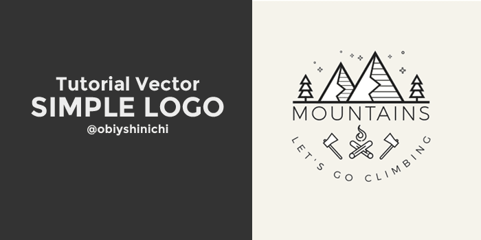Membuat Simple Logo : Mountains – Let's Go Climbing dengan Inkscape