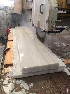 Proceso fabricación fregadero de mármol