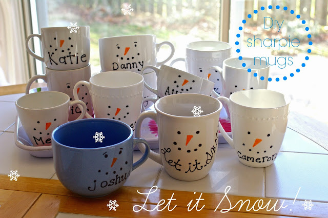 how to make a snow man sharpie mug