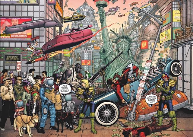El mundo futuro de Juez Dredd es cyberpunk y tecnológico