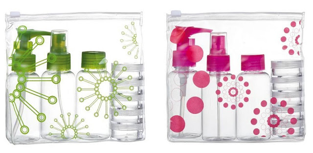Kit de frascos porta líquidos para viajar