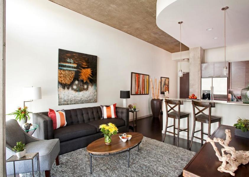 Small Open Concept Kitchen And Living Room Small Space Home Interior Exterior Decor Design Ideas