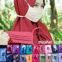 MASKER HIJAB /Terlaris masker kain / masker kain /masker hijab/masker tali sambung