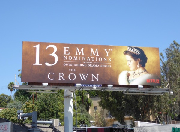 Crown 2017 Emmy nominee billboard