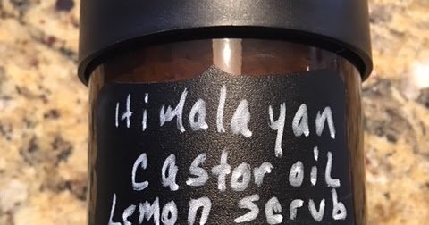 HIMALAYAN SALT AND CASTOR OIL LEMON BODY SCRUB