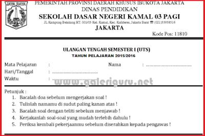 Contoh Soal UAS Mapel Bahasa Indonesia KTSP Guru SD