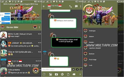 BBM Mod Material Design Clash Of Clans/COC Theme v2.9.0.51 Apk