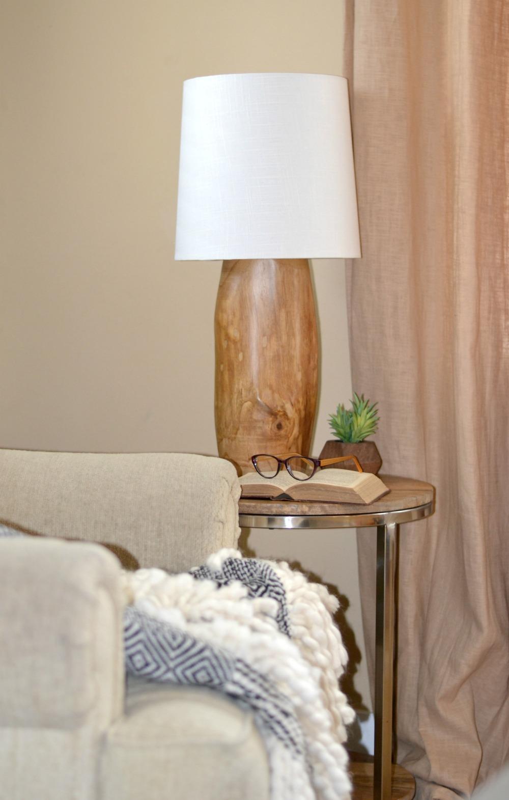 DIY a Modern Tree Stump Natural Wood Lamp - Rachel Teodoro for Diy Wood Lamp Shade  70ref