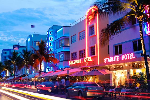 Ocean Drive em South Beach Miami