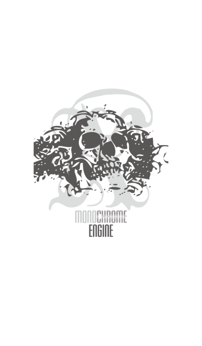 THE SKULL with monochrome