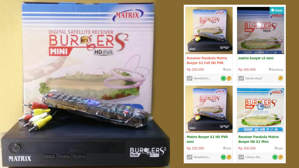 harga matrix burger s2 mini hd pvr