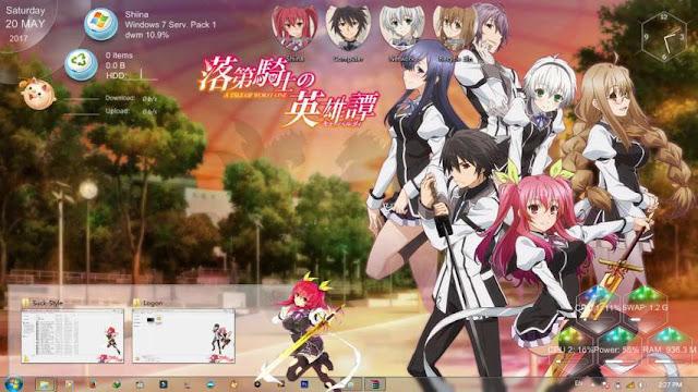 Rakudai Kishi no Cavalry Theme Win 7 by Bashkara