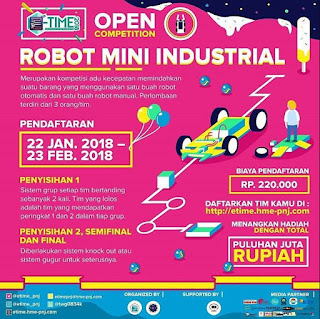 Lomba Robot Mini Industrial E-Time 2018