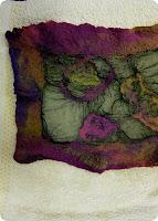 sciarpa con lana cardata