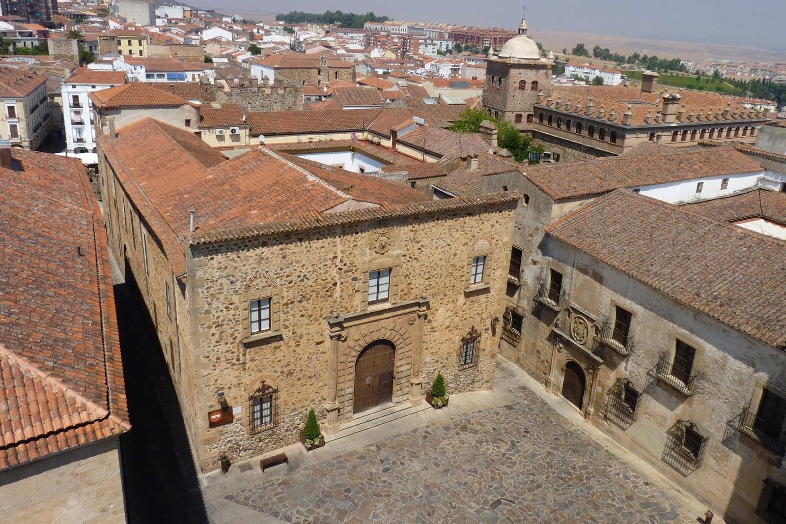 Cáceres, Plaza Santa María desde la Concatedral.