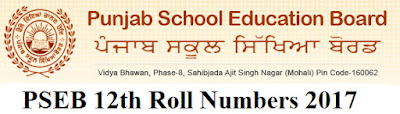 PSEB 12th Roll Number 2017 Download at pseb.ac.in