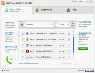 Auslogics Browser Care 1