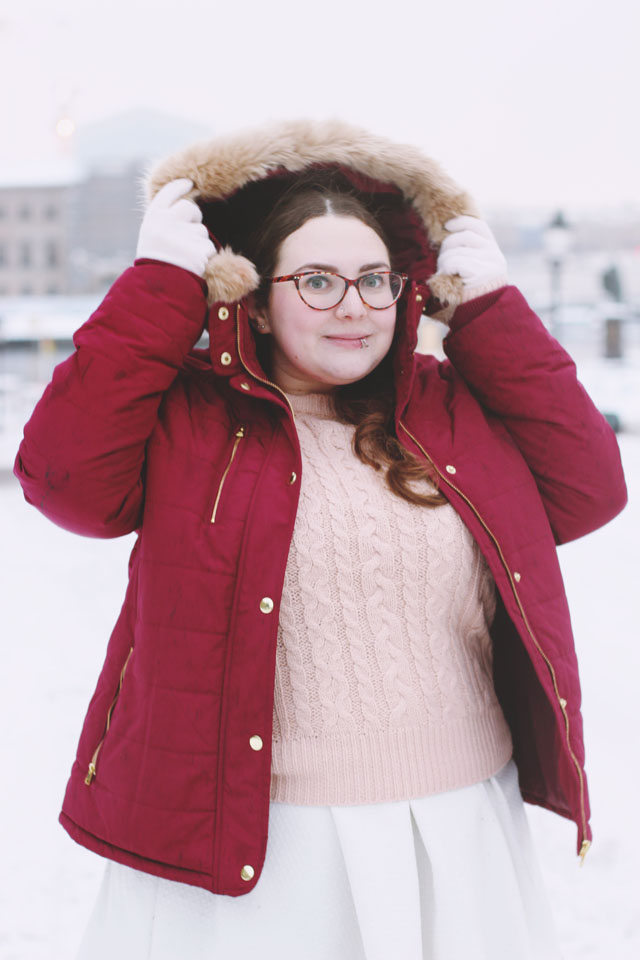 Warm winter outfit plus size