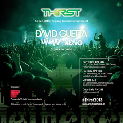 Heineken Thirst 2013, David Guetta, W&W, Nervo, Heineken, concert, party
