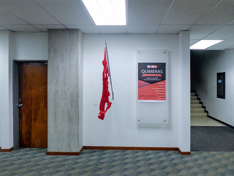 Banderas para el recuerdo, Hotel Miramar, en la exposición Quimeras en la USB
