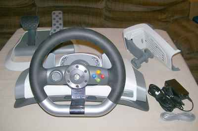 xbox360 accessories microsoft xbox 360 racing wheel perfect experience. Black Bedroom Furniture Sets. Home Design Ideas