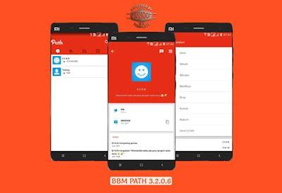 BBM MOD Path v3.2.0.6 Apk Terbaru Update (BBM Tema Sosmed Terbaru Tahun 2017) Gratis