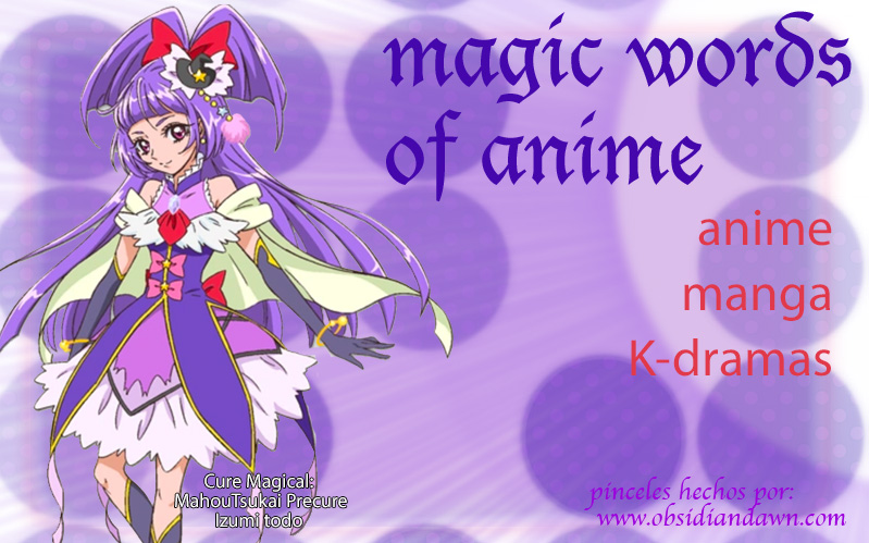 Magic Word of Anime