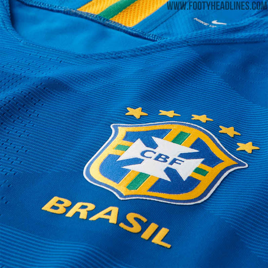 e89155be1 ... Brazil 2018 World Cup away shirt is royal blue with an interesting
