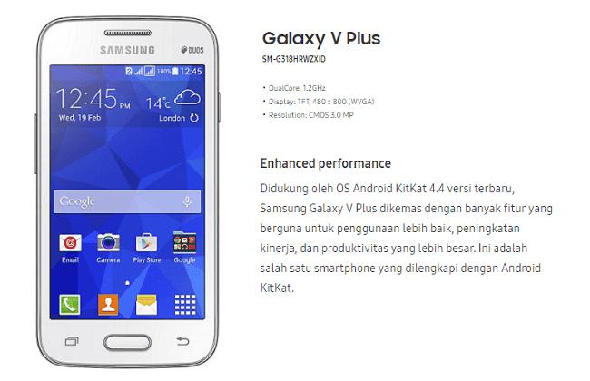 Rooted Firmware Samsung Galaxy V Plus SM-G318HZ