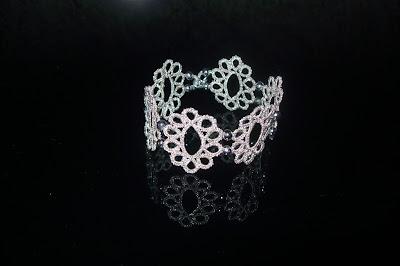 Tatting silver bracelet
